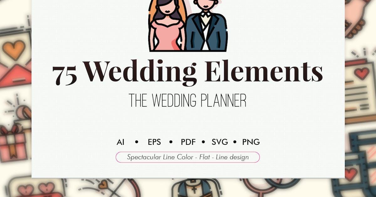 Download 75 Wedding elements by Chanut_industries