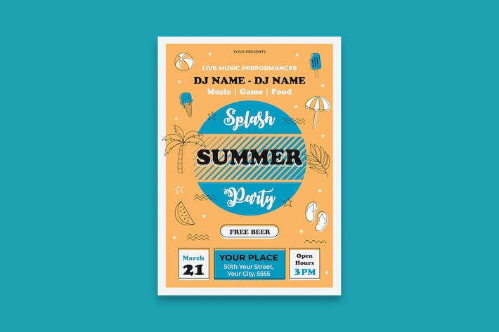 Thumbnail for Summer Party Poster