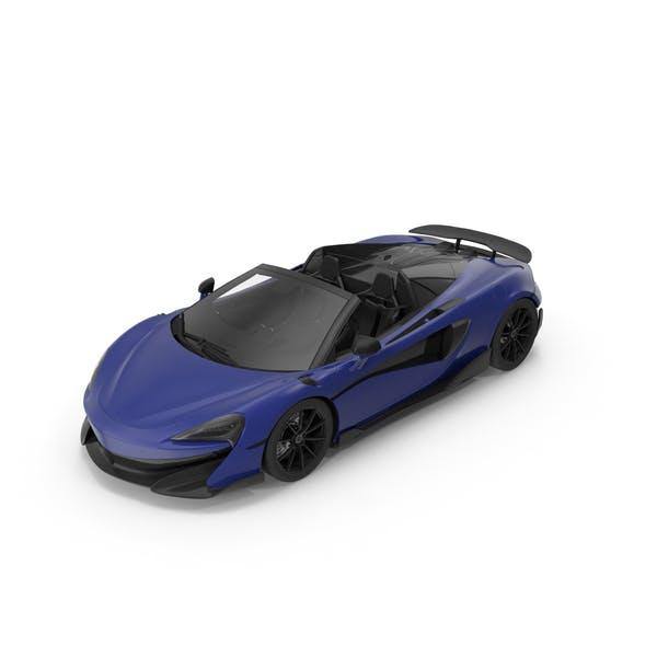Coche deportivo Azul Oscuro