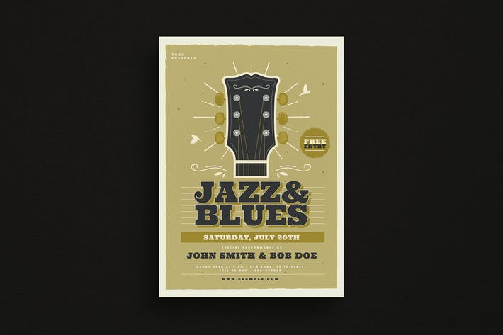 Thumbnail for Jazz & Blues Music Flyer