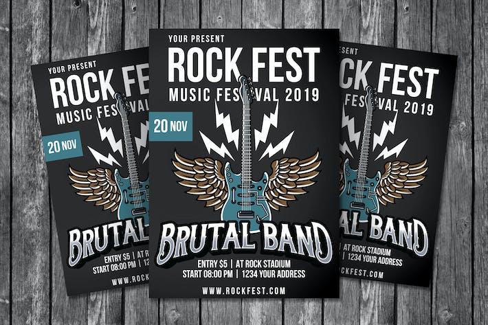 Thumbnail for Rock Fest Flyer Template