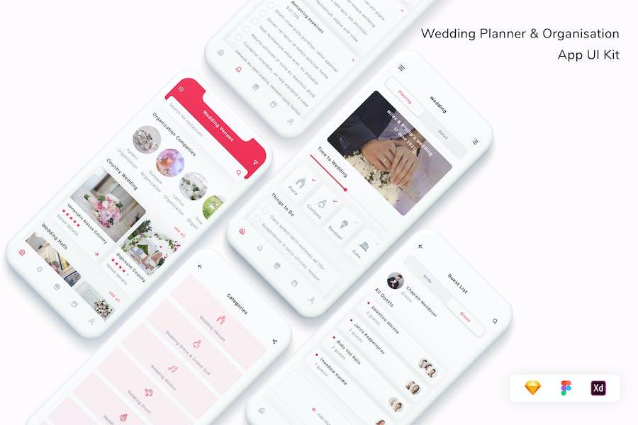 Wedding Planner & Organisation App UI Kit