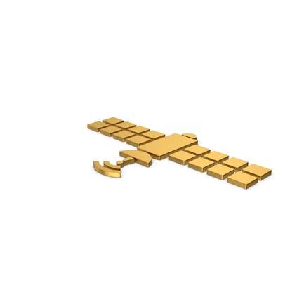 Gold Symbol Satellite