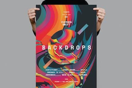Backdrops Poster /  Flyer