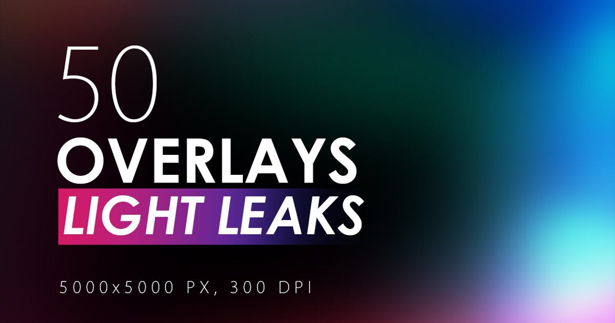 Download 50 Light Leak Overlays by M-e-f