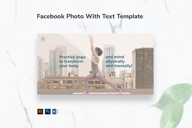 Yoga Instructor Facebook Photo With Text - product preview 0