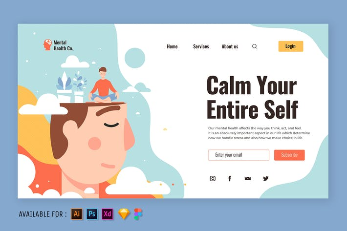 Thumbnail for Mind Relaxation - Web Illustration