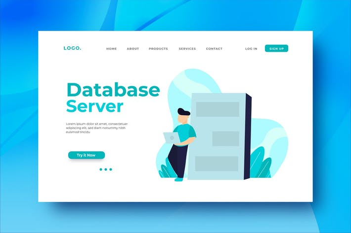 Thumbnail for Database Server Landing Page Illustration