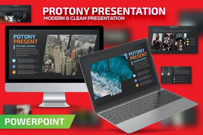 Thumbnail for Шаблон презентации Protony Powerpoint