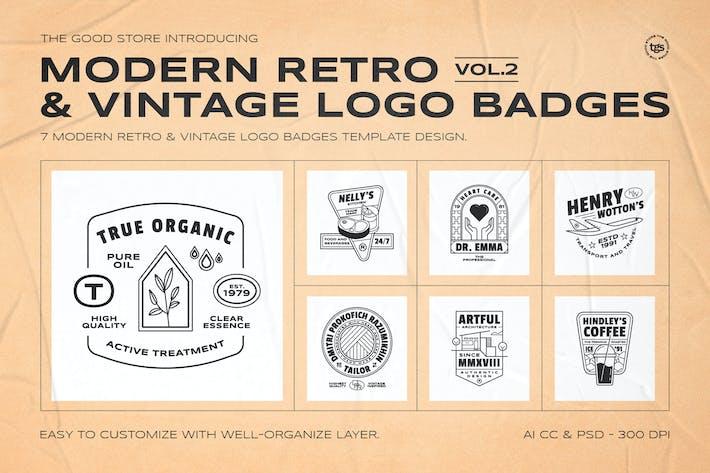 Thumbnail for Retro Logo Badges Set Vol.2