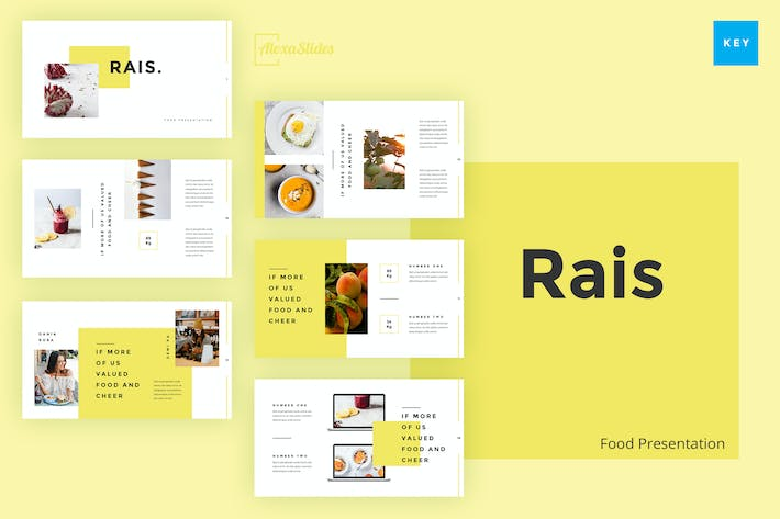 Thumbnail for Rais - Food Keynote Template