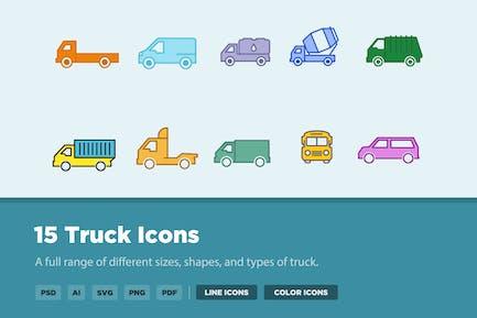 15 LKW-Icons