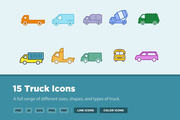 Thumbnail for 15 Truck Icons