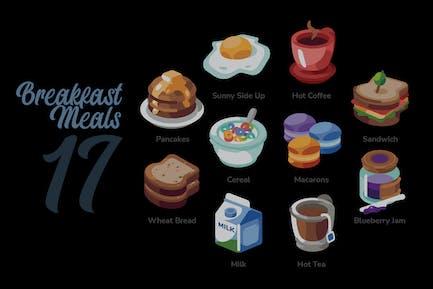 Breakfast Meals - Illustration Sets
