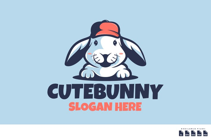 Thumbnail for Cute Bunny Logo Mascot Cartoon