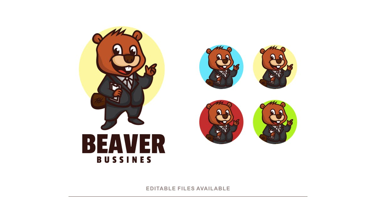 Download Beaver Cartoon Character Logo by artnivora_std