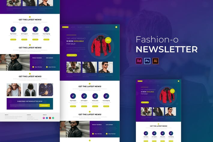 Thumbnail for Jacket-O Fashion   Newsletter Template