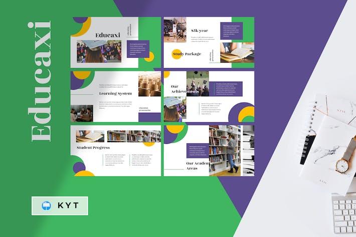 Thumbnail for EDUCAXI - Education Keynote Template