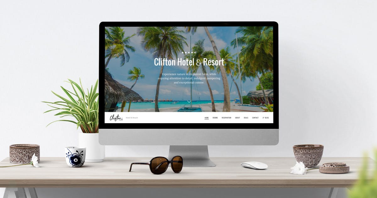 Download Clifton Hotel - One-Page Parallax HTML5 Travel by weibergmedia
