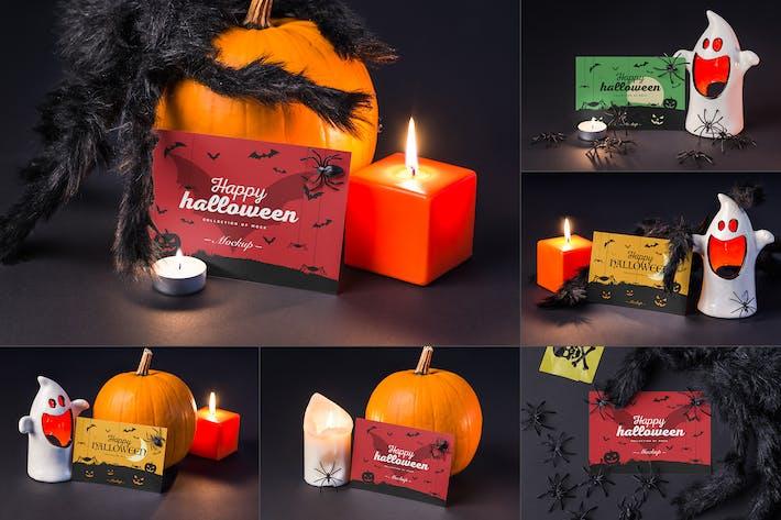 Thumbnail for Halloween Card Mock-up
