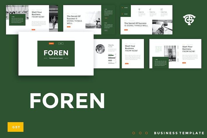 Thumbnail for Foren Business - Google Slides