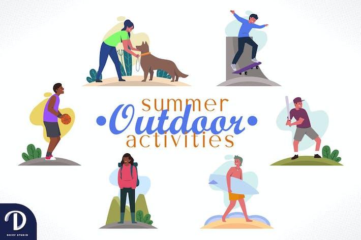 Activités de plein air d'été