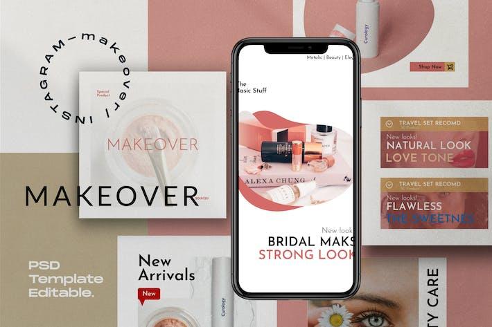 Makeover Pack 2 - Modèle de médias sociaux Instagram