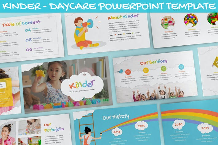Thumbnail for Kinder - Daycare Powerpoint Template