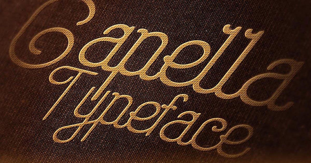 Capella Typeface by cruzine