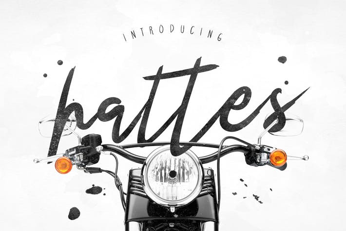 Thumbnail for Hattes Typeface