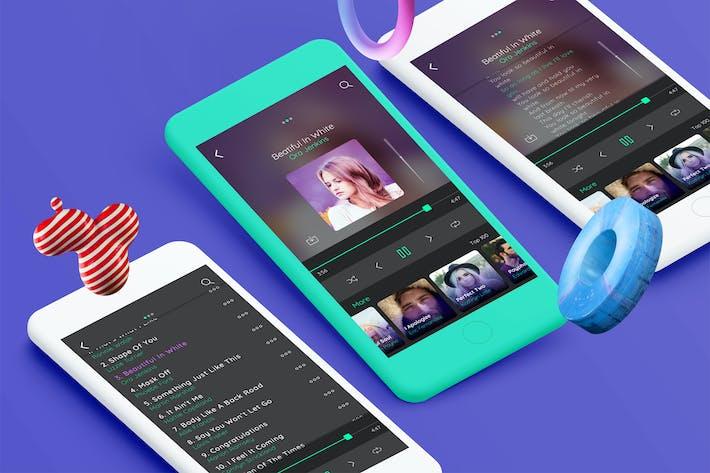 Thumbnail for Music Mobile Ui kit - TH
