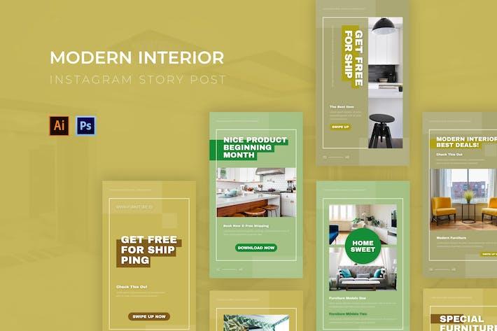 Thumbnail for Modern Interior Instagram Story
