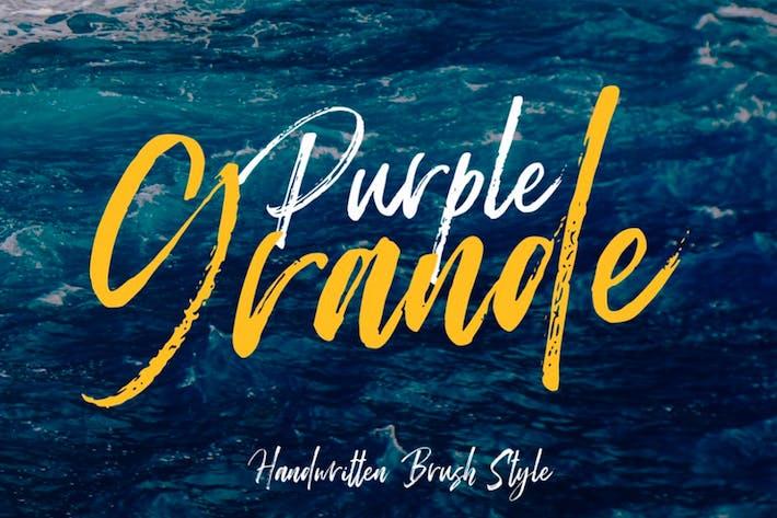 Thumbnail for Purple Grande Brush Font