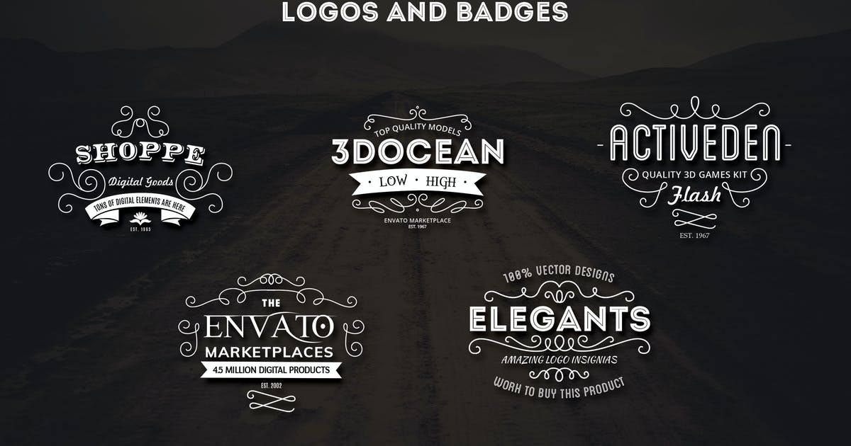 Download Vintage Logos and Badges Template - Vol.1 by DigitalHeaps