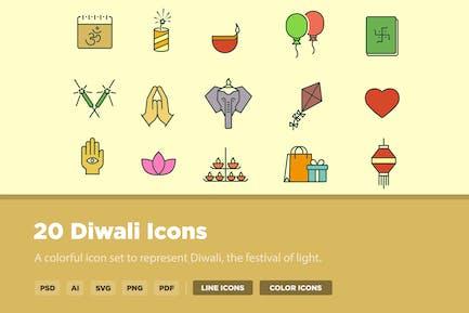 20 Diwali Icons