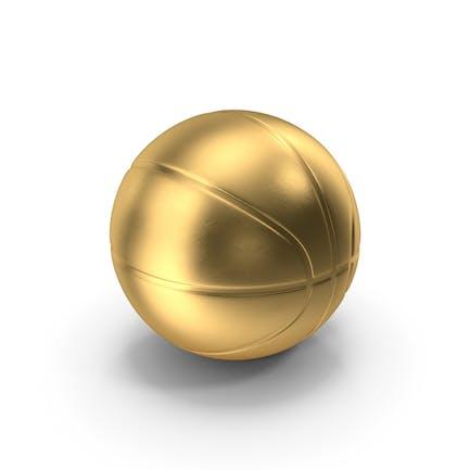 Basketball Ball Gold