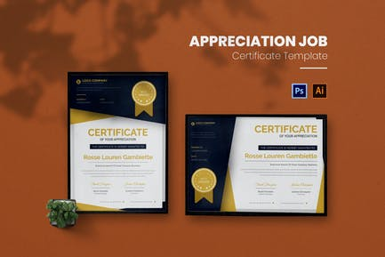 Appreciation Job Certificate
