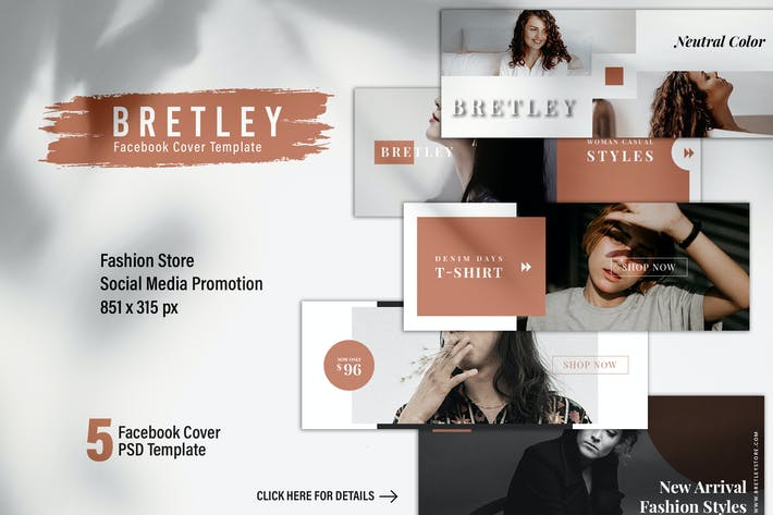 Thumbnail for BRETLEY Fashion Store Facebook Cover Template