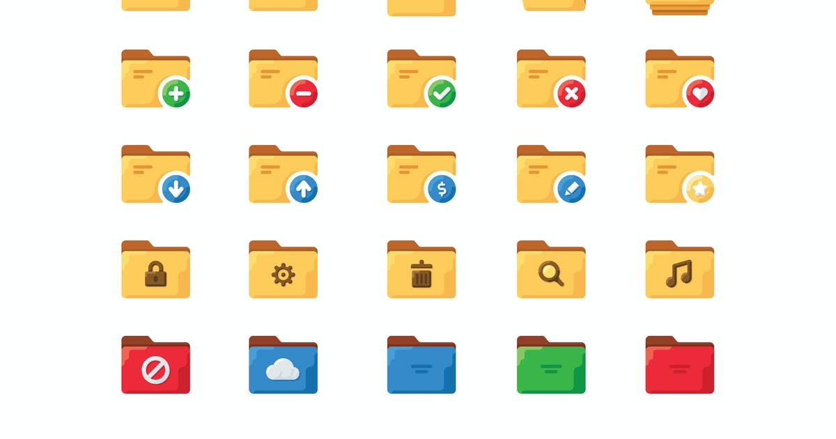 Download 25 Folder icons by mir_design