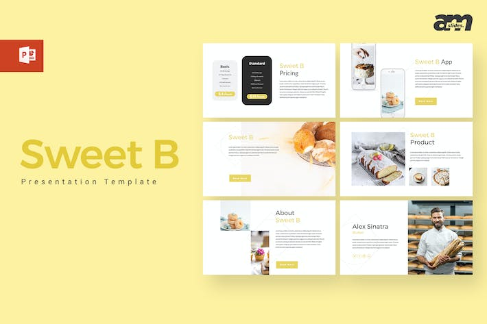 Thumbnail for Sweet B - Bakery Powerpoint Template
