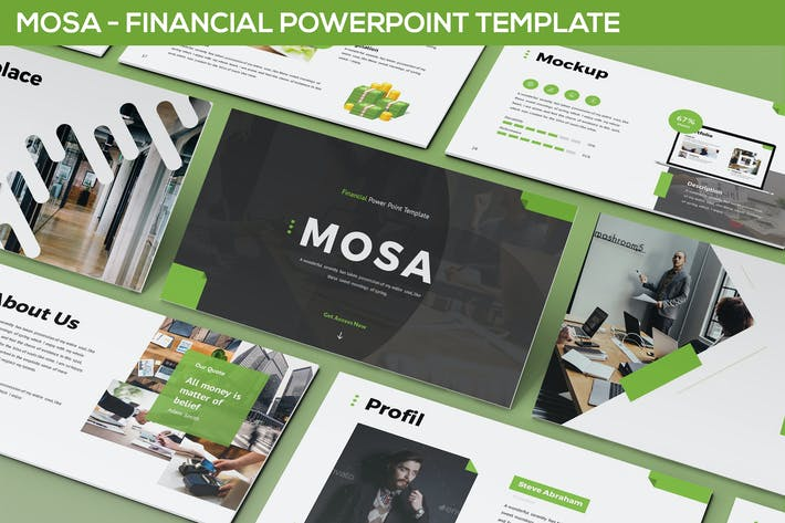 Cover Image For Mosa - Financial Powerpoint Template