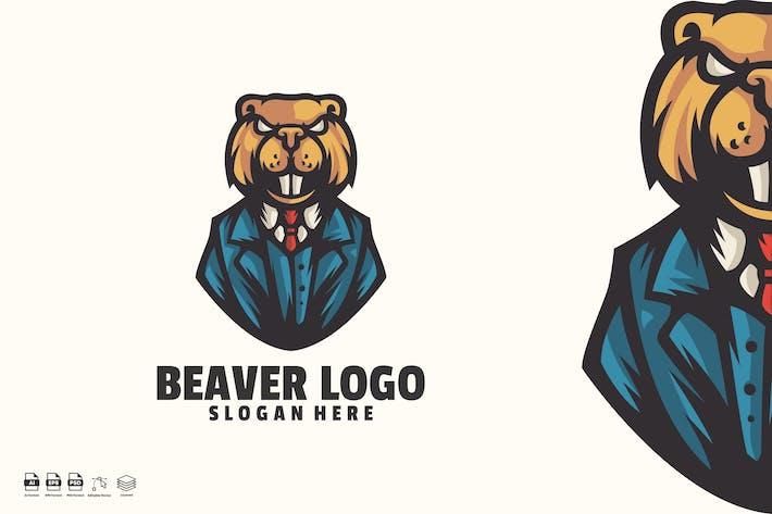 Thumbnail for beaver boss logo template
