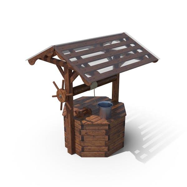 Brunnen Haus und Stahleimer