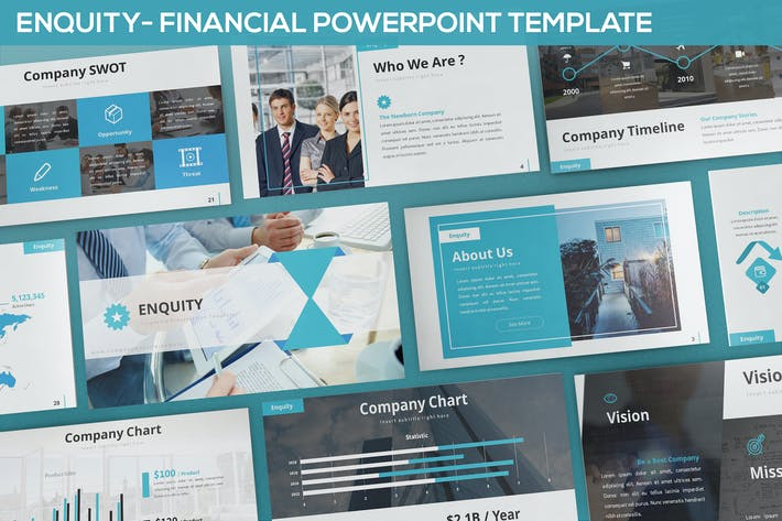 Thumbnail for Enquity - Financial Powerpoint Template