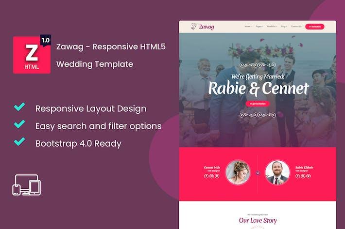 Thumbnail for Zawag - Responsive HTML5 Wedding Template