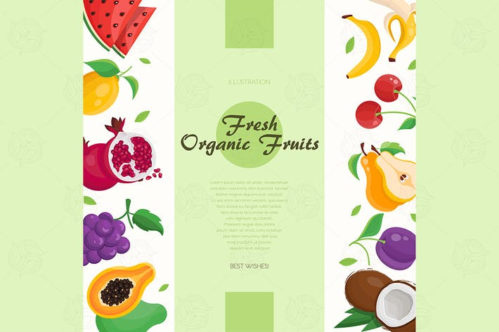 Thumbnail for Fresh organic fruit - vector illustration