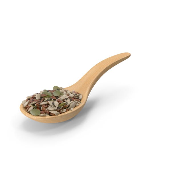 Wooden Spoon with Mixed Healthy Seeds