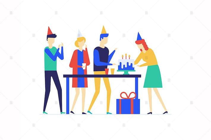 Thumbnail for Birthday celebration flat design illustration