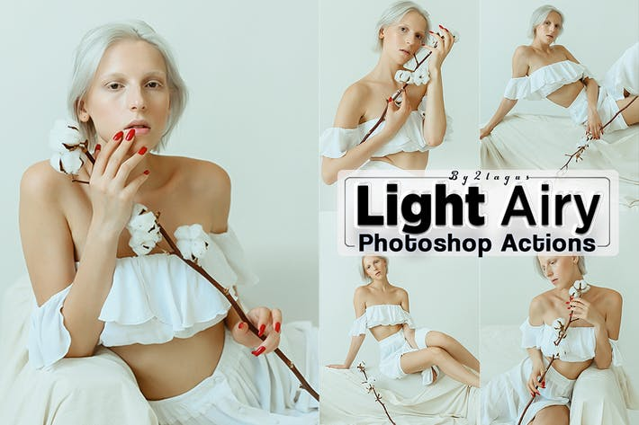 Thumbnail for Light Airy Portrait Photoshop Actions