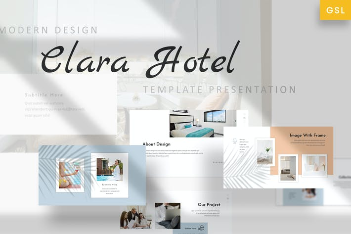 Thumbnail for Clara - Hotel Romantic Google Slides Template